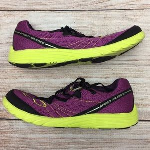 Brooks Green Silence Purple, Yellow and black 10